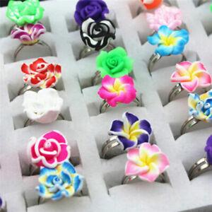 Christmas 5/1 Children/Kids Mixed Cartoon Plastic Rings Jewelry Gifts Girl's