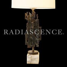 BRUTALIST ATOMIC MODERN TORCH CUT SCULPTURE TABLE LAMP MARCELLO FANTONI RAYMOR