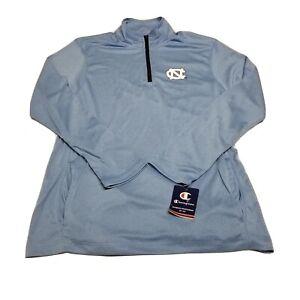 Champion UNC North Carolina Tarheels 1/4 Zip Lightweight Pullover Size Large
