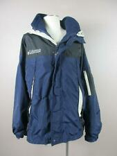 Columbia Size L Mens Navy Blue Full Zip Hooded 3 in 1 Jacket W/Pockets 336