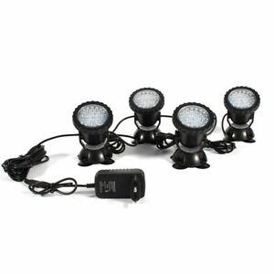 4 Pack LED Unterwasser Spot Licht Aquarium Brunnen Teich Lampe Beleuchtung DHL