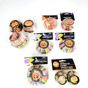 Halloween Fall Cupcake Liners Mixed Lot 100s Party Bake Sale Classroom