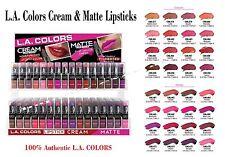LA COLORS Matte & Cream Lipsticks *Pick 16 Colors* Add a message when purchase