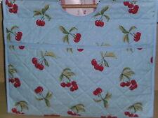 BNWT-Hobby Gift-Premium-Cherries/Polka Dot on Blue Design-Knitting/Craft Bag