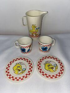 Sesame Street Vintage Chilton Globe Ware Muppets Big Bird Cookie Monster