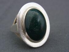 schöner alter Ring 835/-Silber Heliotrop ca. um 1900