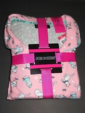 Joe Boxer women flannel pajama set - 2pc 1X sz pink kitty cats NWT