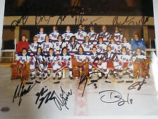 MIRACLE ON ICE 1980 USA HOCKEY TEAM SIGNED AUTOGRAPHED PHOTO COA MINT 19 NAMES