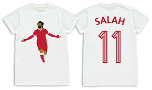 Mohamed Mo Salah Liverpool No.11 Printed Adult T-Shirt S M L XL Unofficial