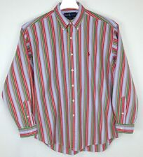 "Men's Ralph Lauren ""Blake"" Pony Logo Bright Multi Color Stripe Cotton NICE Sz M"