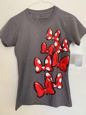 Ufficiale Mickey Mouse T Shirt Disney 1928 Circle Logo da Donna Nuovo Grigio