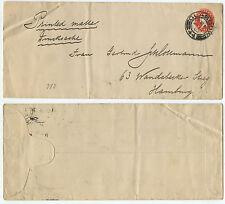 11710 - Großbritannien Ganzsache - Umschlag - Glasgow 13.1.1903 nach Hamburg