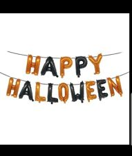 Happy Halloween balloon banner