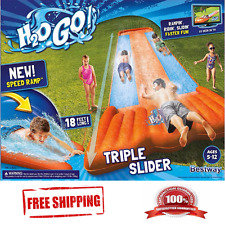 Triple Water Slip and Slide Wave Rider Inflatable Kids Toy Long fast Playground