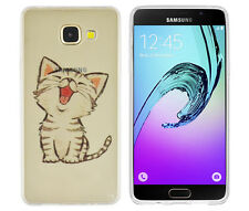 TPU Case für Samsung Galaxy A5 (2016) Schutzhülle Tasche Cover kleine Katze süß