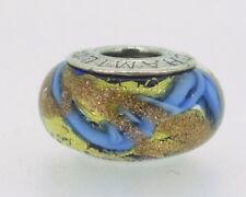 Chamilia Murano Blue Glass Bead 14mm