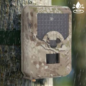 120° Jagdkamera Wildkamera 12MP 1080P IP65 Wasserdicht Fotofalle IR Nachtsicht