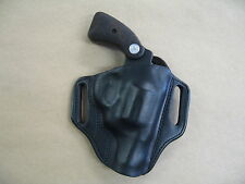 Colt Detective Special Revolver Leather 2 Slot Pancake Belt Holster CCW BLACK RH