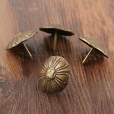 10Pcs Antique Bronze Upholstery Nails Tacks Studs Decor Furniture Hardware 23mm