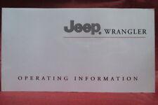 2003 JEEP WRANGLER Owner Manual OEM Part# 81-426-03101