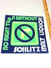 Schlitz beer sign tacker sign neo-neon glo 75' malt liquor bull bar brewery FJ4