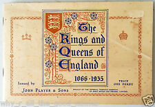 Vintage TRADING CARDS Book Of John Player KINGS AND QUEENS OF ENGLAND 1066-1935