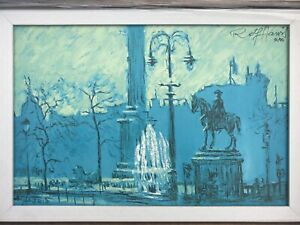 "Rolf Harris Signed LImited Edition Canvas Print - ""Trafalgar Square"" With COA"