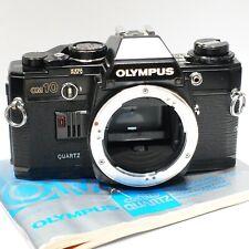 Olympus OM 10 Quartz 35mm SLR camera body, Black version, OM10, Excellent