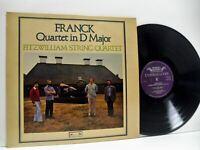 FITZWILLIAM STRING QUARTET franck string quartet LP EX+/EX, DSLO 46, vinyl, uk,