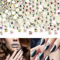 288/1440pcs SS3-20 Manicure AB Crystal Flat Back Rhinestones Nail Art Decoration