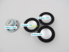 2pcs 40mm 8Ω 3W Full-range speaker Loudspeaker Tv Video Portable Audio Part 8ohm
