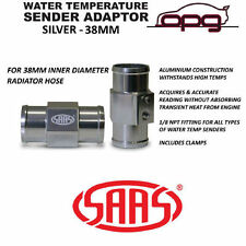 SAAS SWTA38 WATER TEMP GAUGE SENDER RADIATOR HOSE ADAPTOR SILVER 38MM 1/8 NPT
