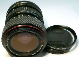 Tokina 28-70mm f3.5-4.5 SD II Lens manual focus w/ macro for Canon FD AE-1
