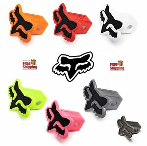 "FOX RACING HEAD TRAILER HITCH 2"" RECEIVER COVER MX SX MOTO MOTOCROSS ATV NEW"