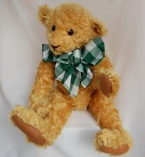 "Artist Teddy Bear Curly Gold Mohair Linda Spiegel Bearly There 20"" Antique Style"