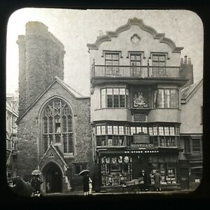 Ancient Elizabethan House Used by Raleigh and Drake Magic Lantern Slide