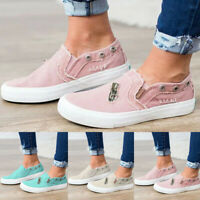 Women's Casual Canvas Peas Shoes Summer Flat-Bottomed Single Zipper Beach Shoes