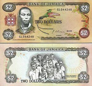Jamaica 2 Dollars 1992, UNC, P-69d