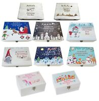 Christmas Eve Box Treat Box Xmas Eve Design Personalised Printed Wooden Large