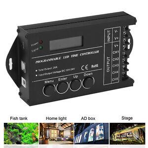 Programmierbarer LED RGB Controller Timer Dimme TC420 5 Kanal DC12V 24V 20A 240W
