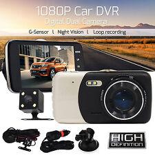 "4.0"" 1080P HD Car DVR Dual Lens Camera Video Recorder Rearview Dash Cam G-sensor"