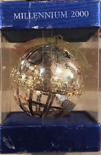 Nos Wallace Silver Millennium 2000 Christmas Ornament In Box 4.25 Inch Tall