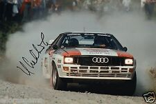 "World Rally Championship Driver Hannu Mikkola Hand Signed Photo 12x8""  AJ"