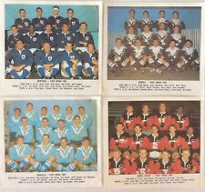 12 x DAILY MIRROR TEAM  COLOUR RUGBY LEAGUE CARDS 1967 SCANLENS