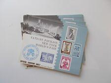 Vatican Pavilion New York World's Fair 1964-65. 26 x Official Souvenir Sheets.