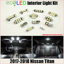 For 2017-2018 Nissan Titan WHITE LED Interior Light Accessories Package Kit 12PC