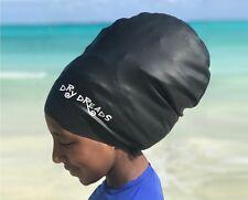 Swim Cap for Long Hair- Dreadlocks, Weaves, Braids Size XL (black)