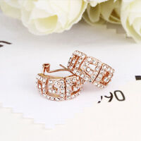 18K Gold / Rose Gold GF Swarovski Crystal Greek Style Earrings VINTAGE LOOK