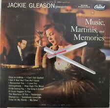 JACKIE GLEASON*MUSIC, MARTINIS, & MEMORIES ALBUM CLOCK*GREAT GIFT! FREE SHIPPING