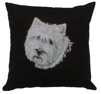 West Highland Terrier Irish Linen Cushion